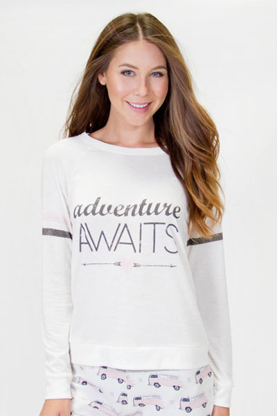 PJ Salvage Adventure Awaits Long Sleeve Top