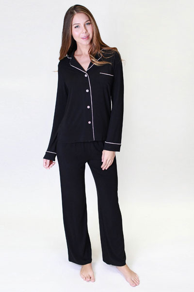 PJ Salvage Be Love Black Pajama Set & Dream Eye Mask