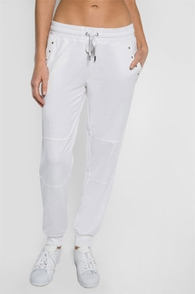 PJ Salvage Beach Please White Banded Pant