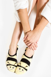 PJ Salvage Bee Plush Slipper Socks