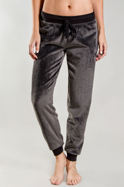 PJ Salvage Black Cozy Banded Pant
