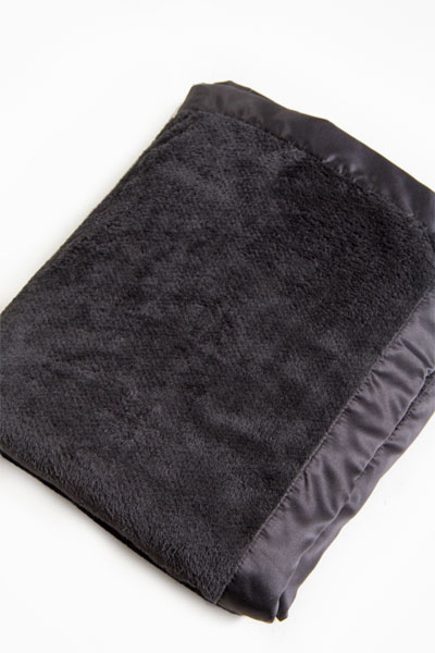 PJ Salvage Black Silky Blanket