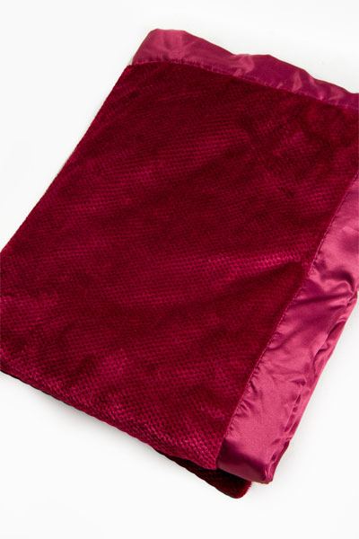 PJ Salvage Burgundy Silky Blanket