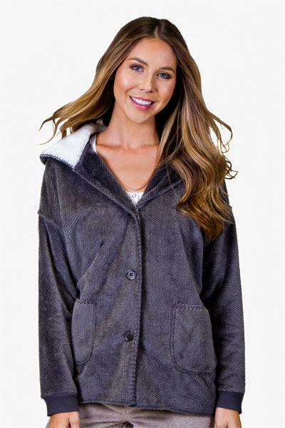 PJ Salvage Charcoal Cozy Cardigan
