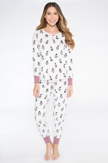 PJ Salvage Cool For The Winter Penguin Pajama Set