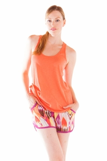 PJ Salvage Coral Tank and Ikat Short
