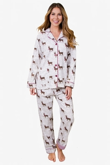 PJ Salvage Deerly Loved Flannel Pajama Set