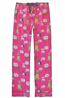 PJ Salvage Dog Pink Flannel Pajama Pant