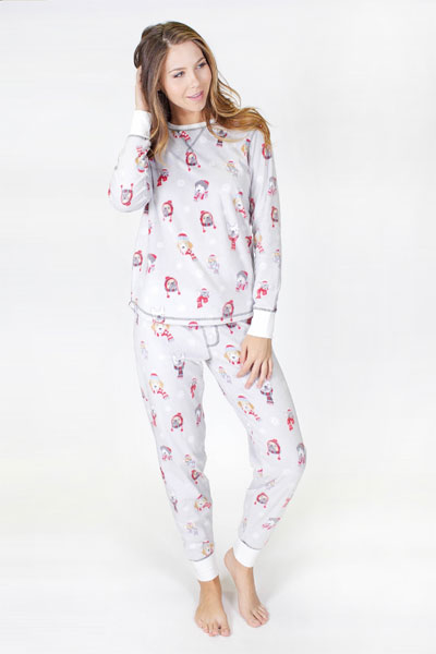 PJ Salvage Dog Polar Fleece Pajama Set