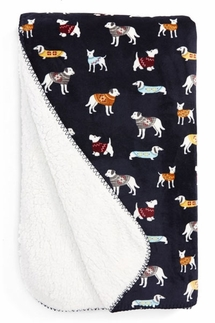 PJ Salvage Doggie Sweaters Velour Blanket