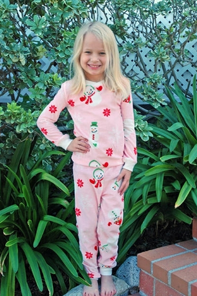 PJ Salvage Frosty Vintage Velour KIDS Pajamas