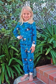 PJ Salvage Fun In The Snow Vintage Velour KIDS Pajamas