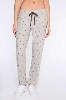 PJ Salvage Gray Star Banded Pant