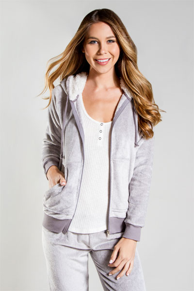 PJ Salvage Heather Grey Cozy Jacket