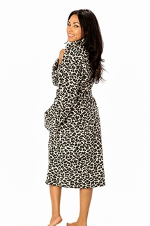 PJ Salvage Leopard Black Robe