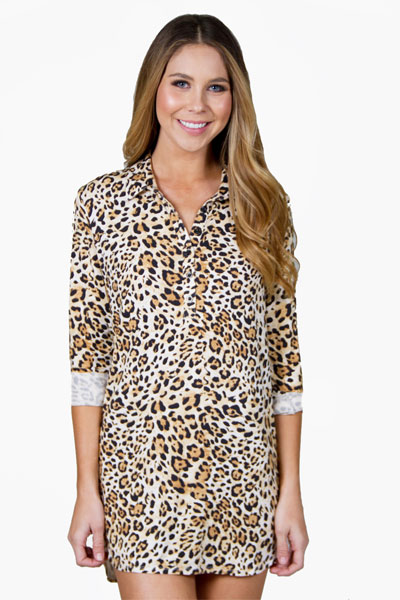 PJ Salvage Leopard Nights Nightshirt
