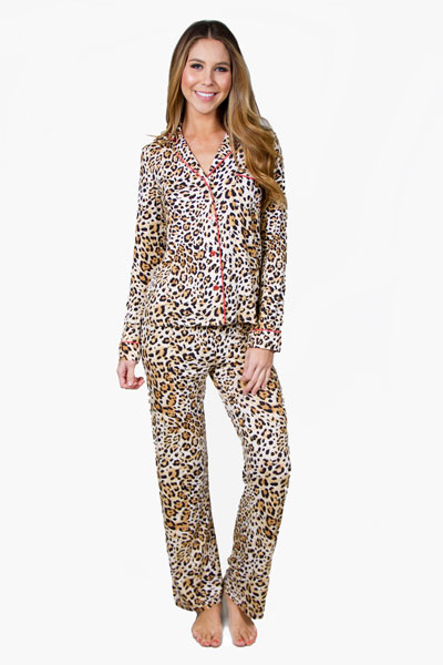 PJ Salvage Leopard Nights Pajama Set