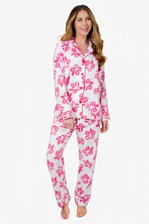 PJ Salvage Lips Flannel Pajama Set