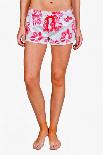 PJ Salvage Lips Flannel Short