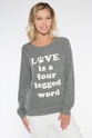 PJ Salvage Love is a Four Legged Word Long Sleeve Top