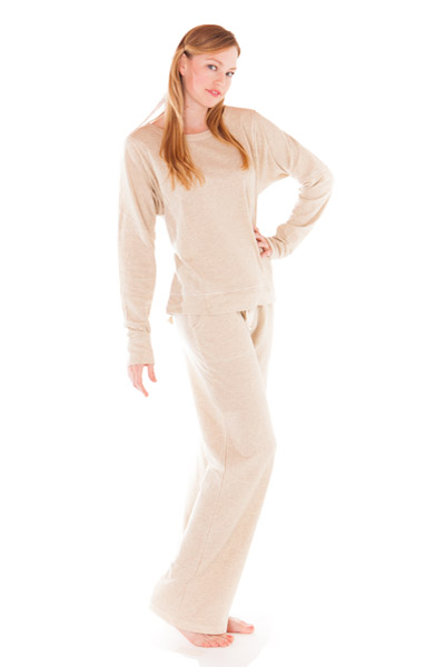 PJ Salvage Oatmeal Top and Pant Loungewear Set