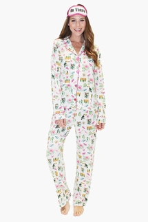 PJ Salvage On Vacay Pajama Set & Eye Mask