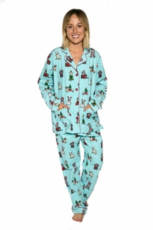 PJ Salvage Paw-sents Flannel Pajama Set