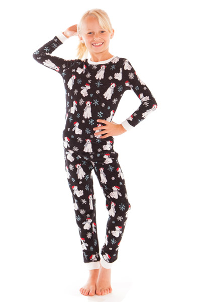 PJ Salvage Polar City Kids Vintage Velour Pajama Set