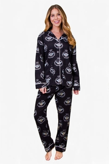 PJ Salvage Queen Bee Flannel Pajama Set