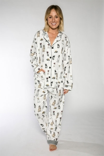 PJ Salvage Royal Dogs Flannel Pajama Set