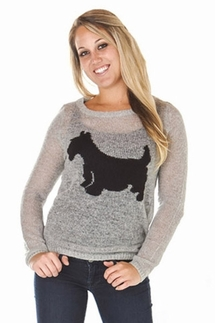 PJ Salvage Scotty Dog Sweater