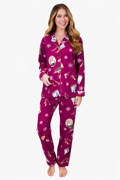 PJ Salvage Ski School Flannel Pajama Set