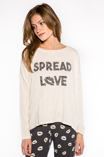 PJ Salvage Spread Love Top