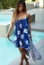 PJ Salvage True Blue Tie Dye Navy Dress