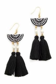Shashi Camille Black Drop Earrings