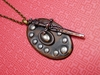 Leather Shield and Sword. Unisex prophetic necklace