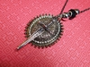 """Warrior Princess"" Bling Sword and Shield Necklace"