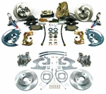 1964-1972 EL CAMINO 4 WHEEL DISC BRAKE CONVERSION KIT 9 INCH BOOSTER SQUARE MASTER CYLINDER