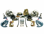 1964-1972 EL CAMINO FRONT DISC BRAKE CONVERSION KIT 9 INCH BOOSTER SQUARE MASTER CYLINDER