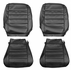1965 EL CAMINO FRONT BUCKET SEAT COVERS RED TWO TONE