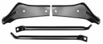 1966-67 Chevelle Rear Bumper Brackets, 4 pc set