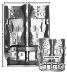 1968-1969 EL CAMINO FULL FLOOR PAN WITH BRACES
