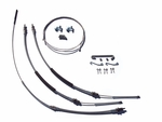 1968-1972 Chevelle Parking Brake Cable Super Kit, Without TH400, Original Material