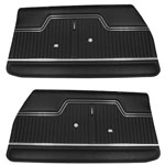 1970 Chevelle Front & Rear Door Panels Kit Black