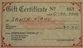 $425.00 Gift Certificate