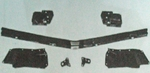 67 67 GTO ONLY FRONT BUMPER TO GRILLE FILLER PANEL SET