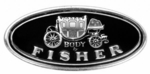 """GM Door Sill Scuff Plate """"Body By Fisher"""" Decal"""