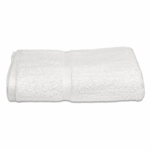 Bath Towels, Royal Hotel, 27x54, 17 lbs./dozen, 100% Cotton, Dobby Border, White