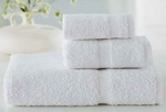 Bath Towels, Wellington Hospitality, 27x50, 14 lbs./dozen, 100% Cotton, Dobby Border, White