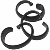 "Black Hang Ease ""C"" Type Plastic Shower Curtain Hooks - Easy Hang, Value Choice"